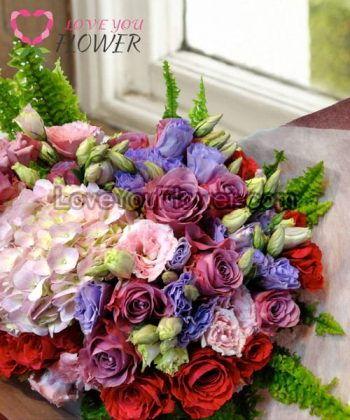 ช่อดอกไม้ Kenna ดอกกุหลาบ ดอกคาร์เนชั่น