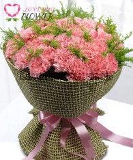 ช่อดอกไม้ Kalila ดอกคาร์เนชั่นชมพู ดอกสุ่ย