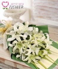 ช่อดอกไม้ Lily ดอกลิลลี่ขาว ดอกสุ่ย