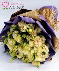 ช่อดอกไม้ Serena ดอกไลเซนทัสสีเหลือง