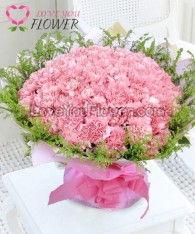 ช่อดอกไม้ Amanda คาร์เนชั่นชมพู ดอกสุ่ย
