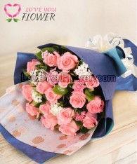 ช่อดอกไม้ Dana ดอกกุหลาบโอลด์โรส ดอกผีเสื้อ