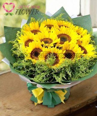 ช่อดอกไม้ Yaxkin ดอกทานตะวัน