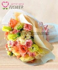 ช่อดอกไม้ Fleur ดอกกุหลาบ ดอกคาร์เนชั่น