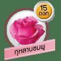 กุหลาบชมพู 15 ดอก