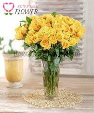 แจกันดอกไม้ Daisy ดอกกุหลาบเหลือง