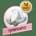กุหลาบขาว 14 ดอก