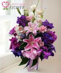 แจกันดอกไม้ Orchid ดอกลิลลี่ ดอกกุหลาบ