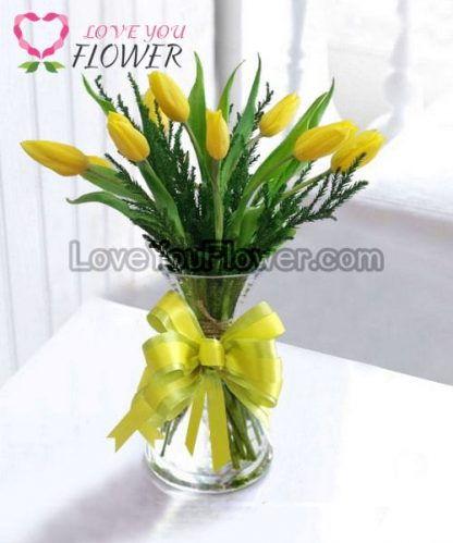แจกันดอกไม้ Lala ดอกทิวลิป