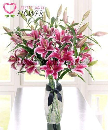 แจกันดอกไม้ Lilinia ดอกลิลลี่