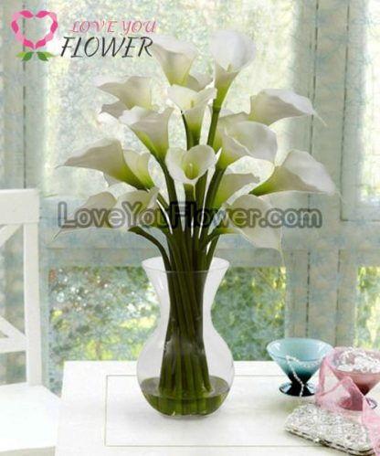 แจกันดอกไม้ Lovely ดอกคาร่าลิลลี่