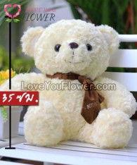 701ตุ๊กตาหมีคลาสสิก สีขาว
