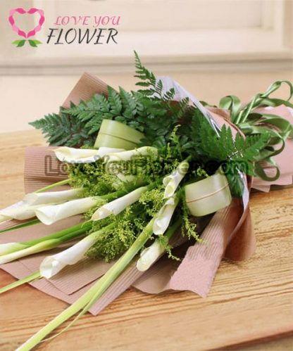 ช่อดอกไม้ Glenda ดอกคาลล่าลิลลี่