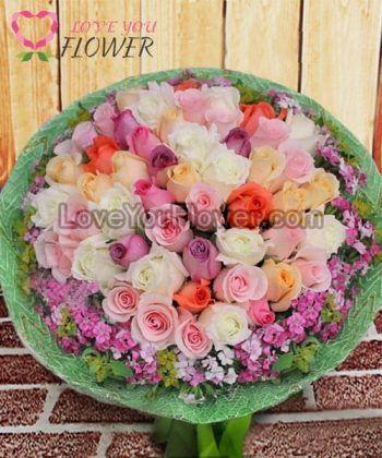 ช่อดอกไม้ Kriti ดอกกุหลาบ