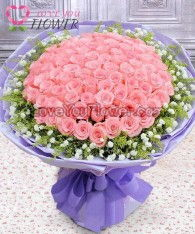 ช่อดอกไม้ Cera ดอกกุหลาบชมพู