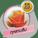 กุหลาบส้ม 55 ดอก