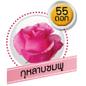 กุหลาบชมพู 55 ดอก