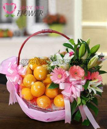 กระเช้าผลไม้ Nerola ส้ม