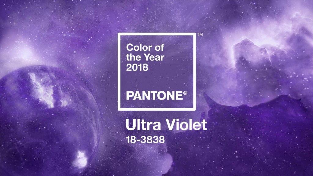 สีม่วง Ultra Violet รหัส 18-3838 สี PANTONE ประจำปี 2018