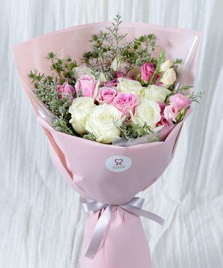 ช่อดอกกุหลาบน่ารักสดใส