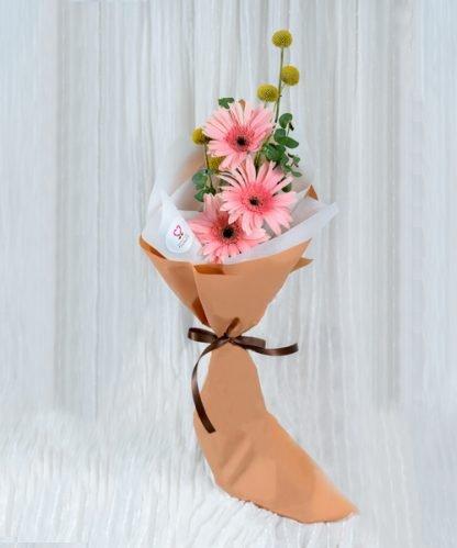 ช่อดอกเยอบีร่าสีชมพู