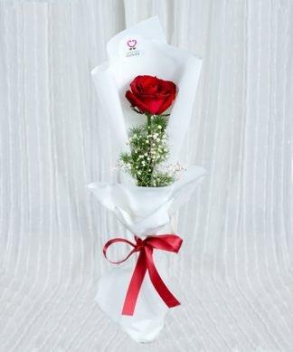 ดอกกุหลาบสีแดงมอบให้คุณ