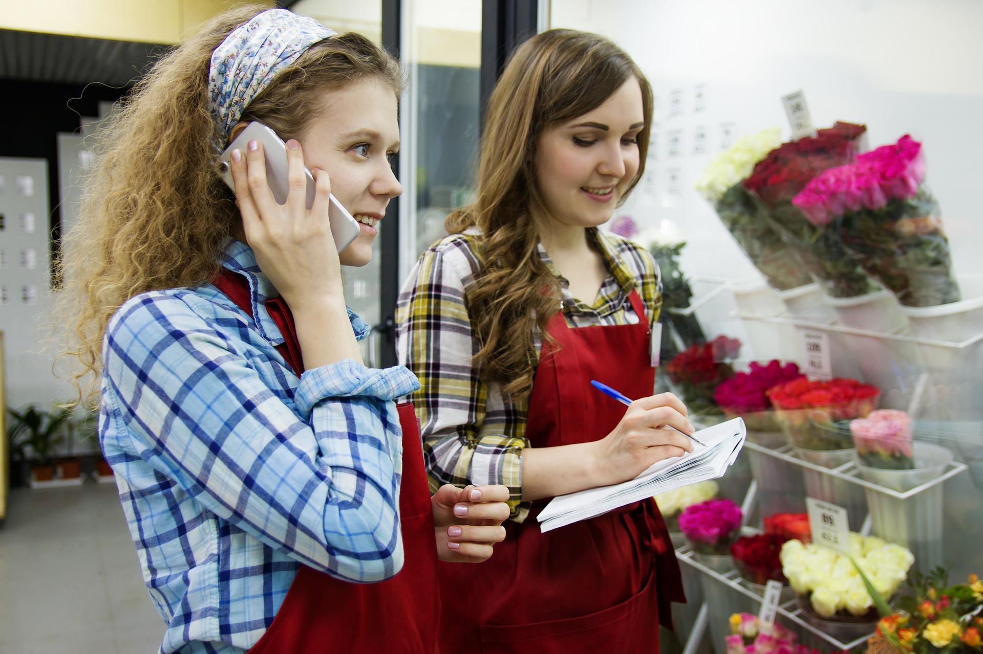 บริการลูกค้าร้านดอกไม้