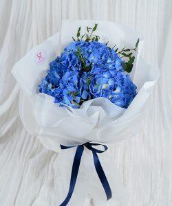 ช่อดอกไม้สด รหัส A150 จัดด้วยดอกไฮเดรนเยีย
