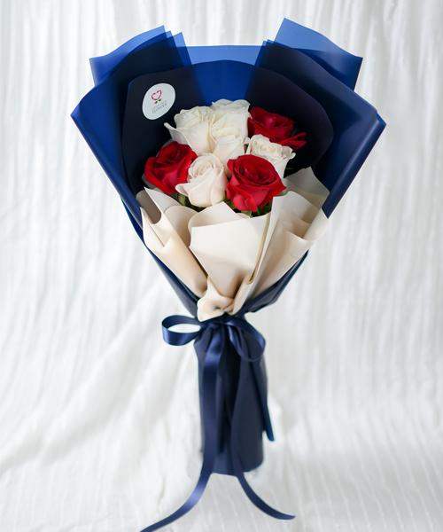 ดอกกุหลาบสำหรับวาเลนไทน์ สลับสองสี