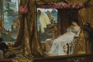 Cleopatra The Meeting of Antony and Cleopatra by Sir Lawrence Alma-Tadema, 1885
