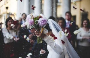 ช่อดอกไม้แต่งงานในงานแต่งของเจ้าสาว