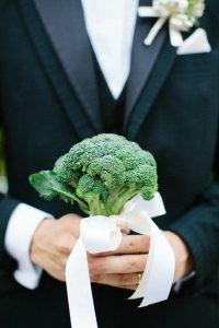 ช่อดอกไม้แต่งงาน บล็อกโคลี่
