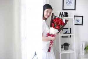 ช่อดอกไม้ ดอกกุหลาบแดง
